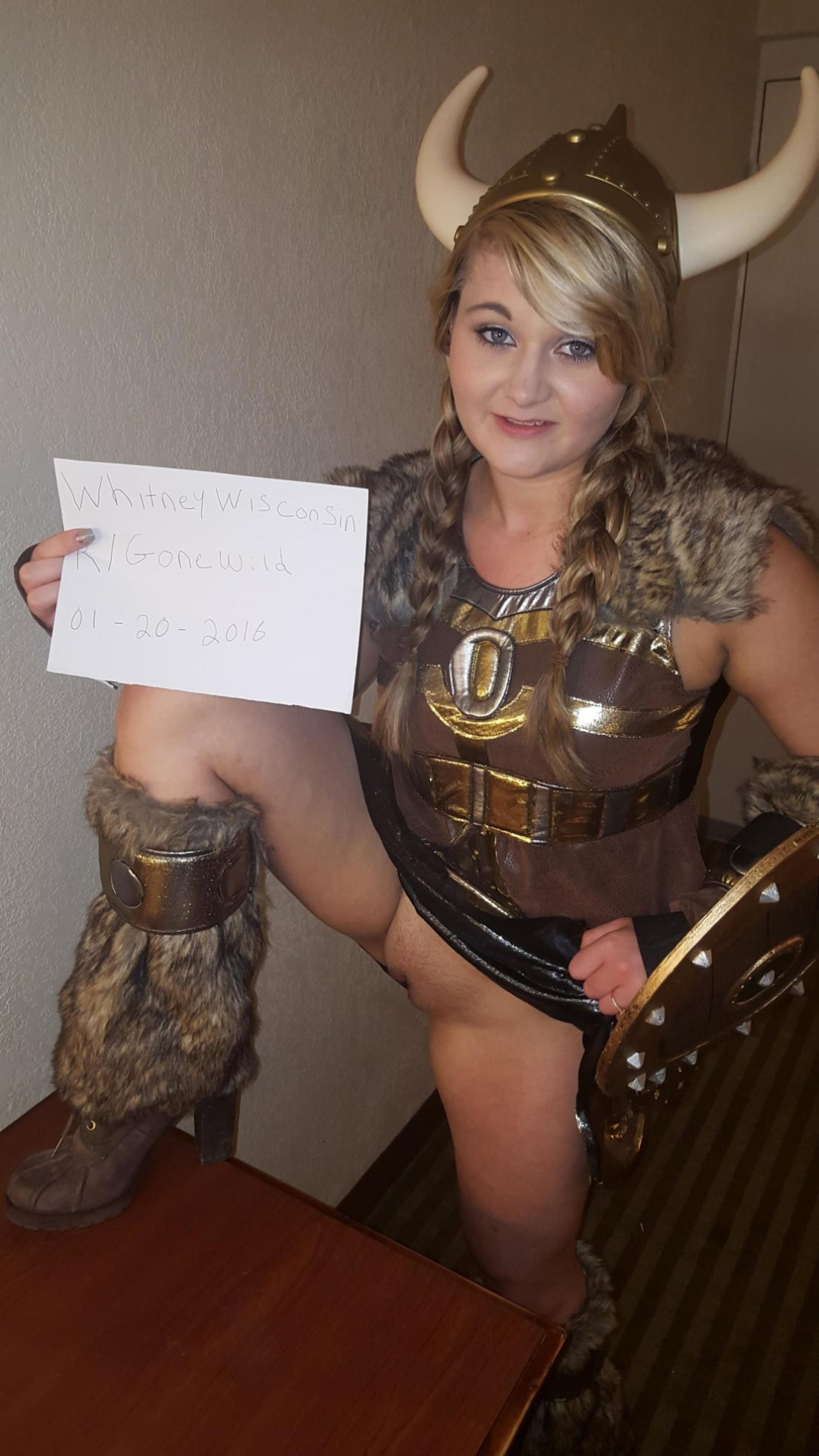 Whitney Wisconsin dressed as a viking